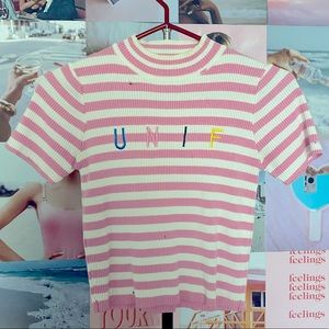 UNIF distressed tee - one size